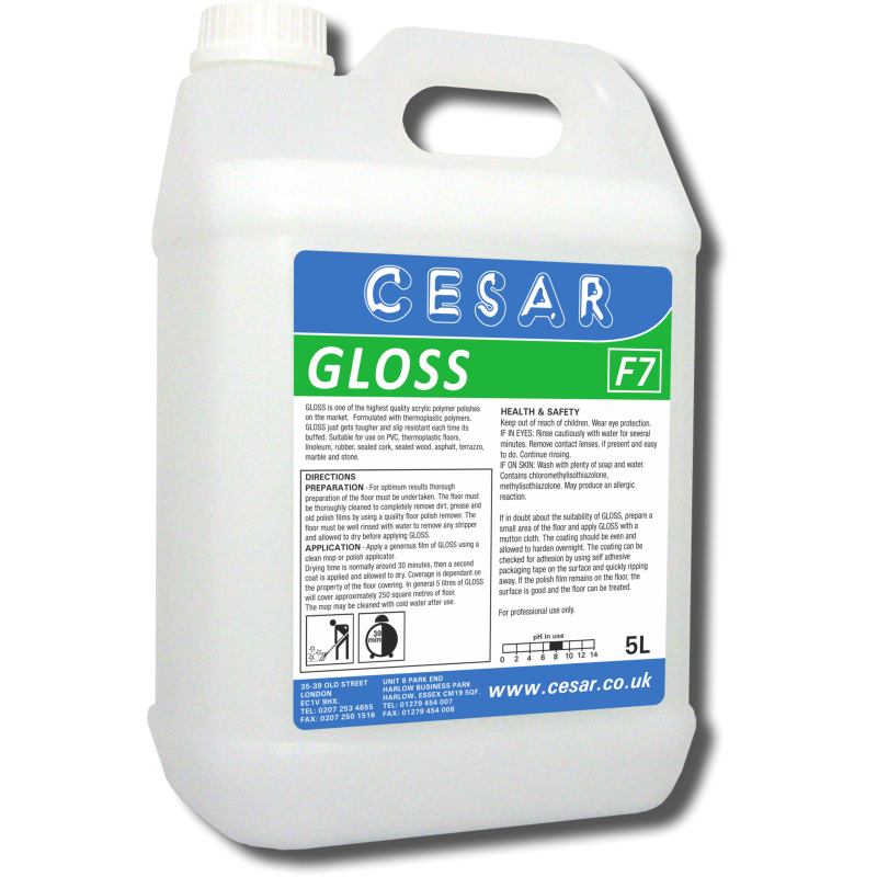 CESAR GLOSS FLOOR POLISH 5LT