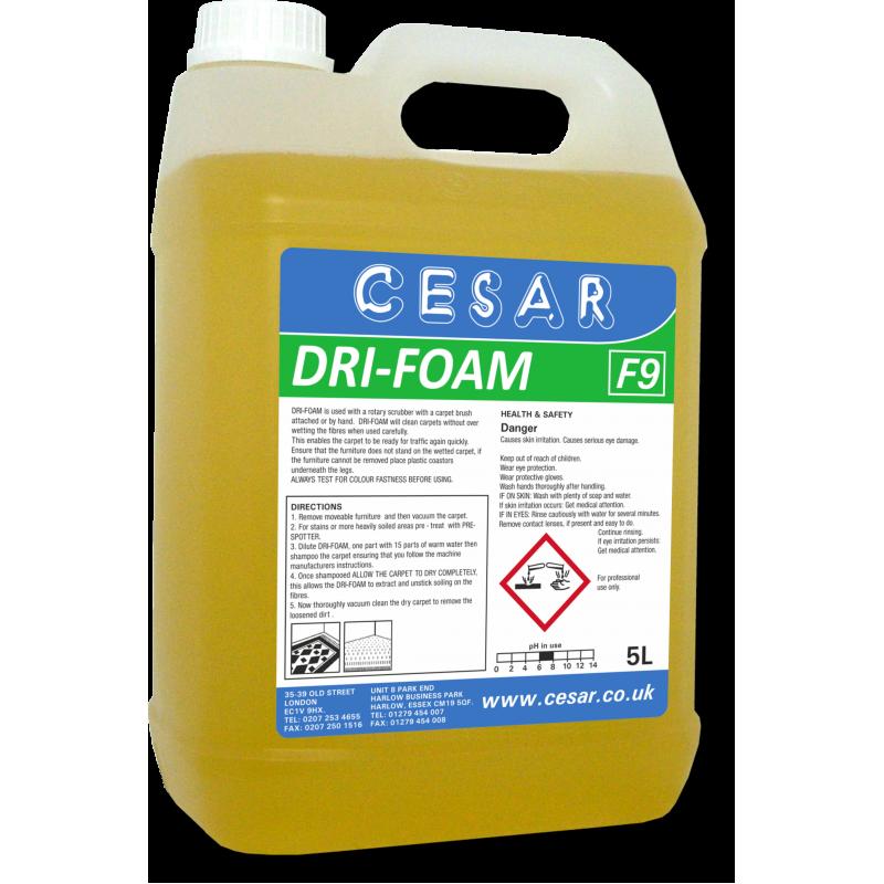 CESAR DRI FOAM CARPET SHAMPOO F9 5LT
