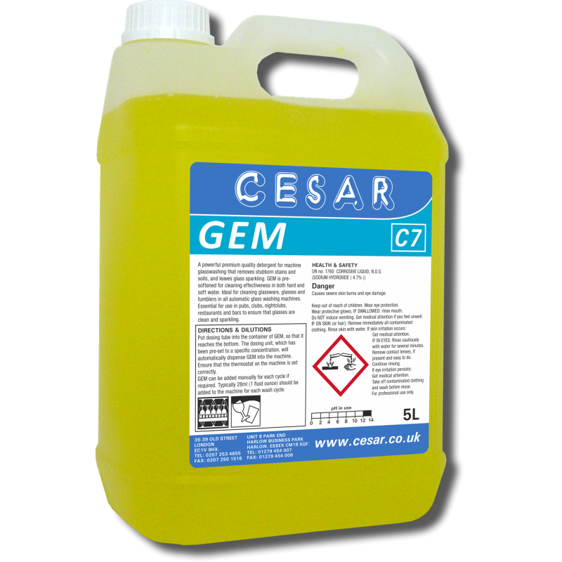 CESAR GEM GLASSWASH C7 5LT