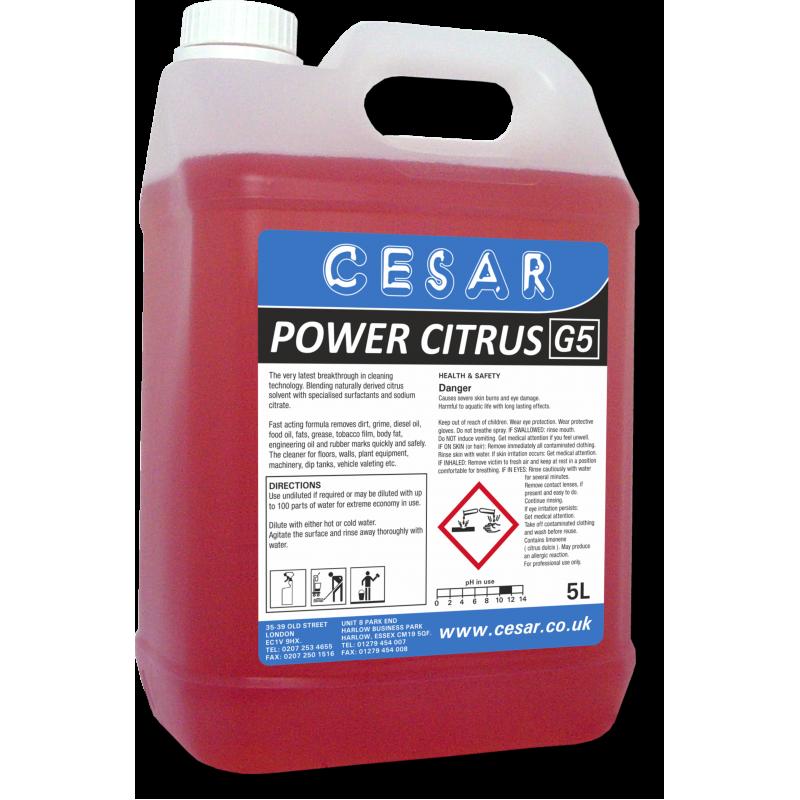 CESAR POWER CITRUS DEGREASER G5 5LT