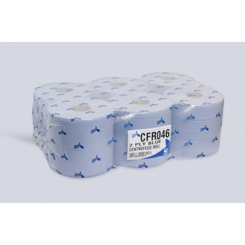 CENTREFEED ROLL X6 2PLY BLUE ESFINA CFR046
