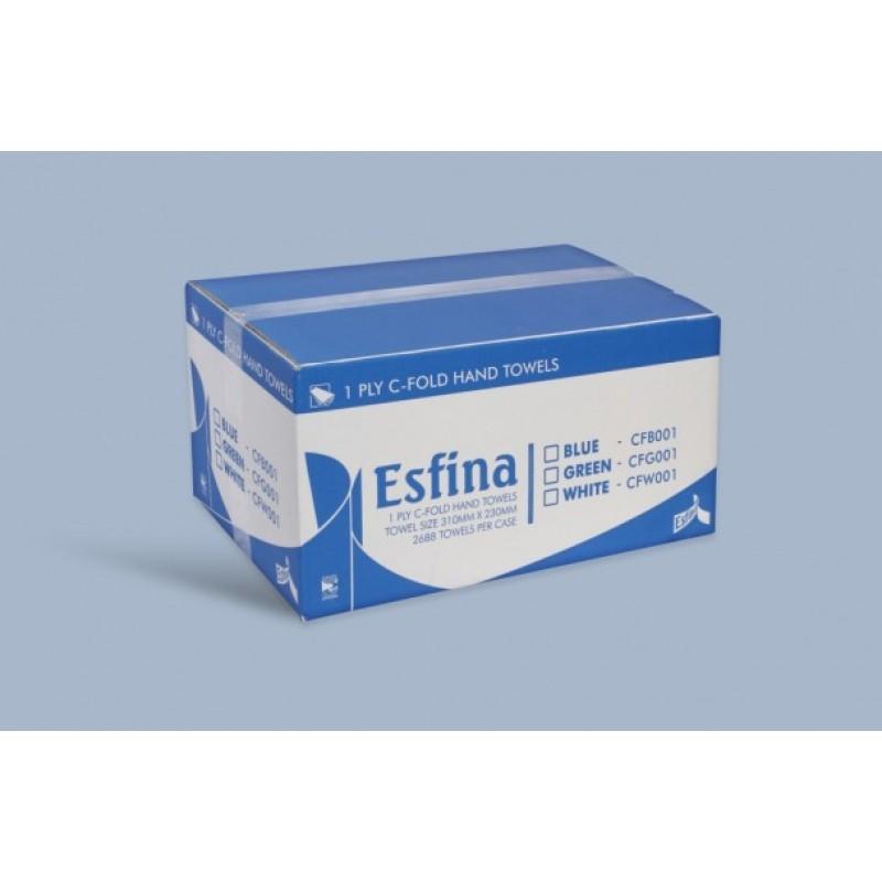 C FOLD BLUE HAND TOWEL 2640 1PLY ESFINA CFB001