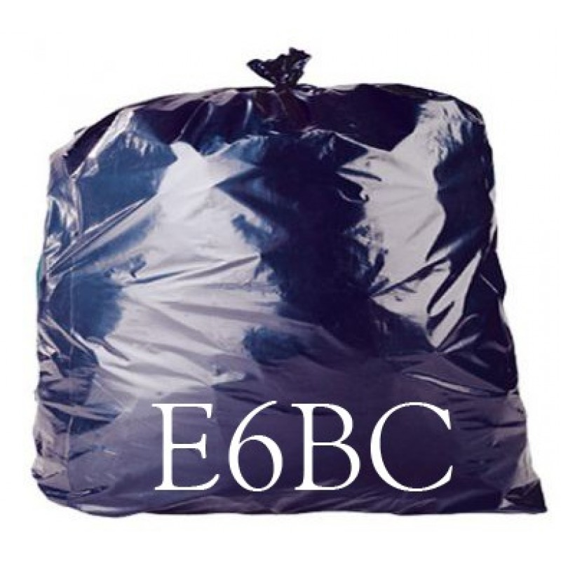 LINERS BLACK BAGS 140G H/S 18x29x39 X200 E6BC