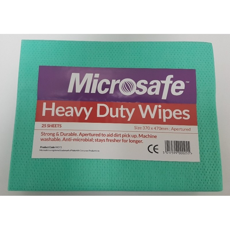CLOTH HEAVY DUTY WIPES ANTI BAC X25 BLUE W073