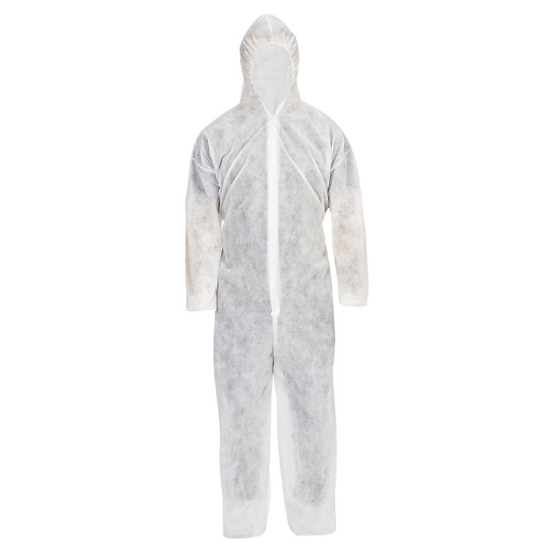 COVERALL DISPOSABLE WHITE