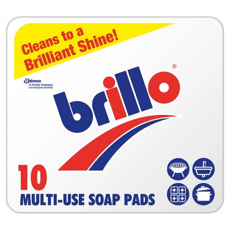 BRILLO SOAP PADS LGE X10